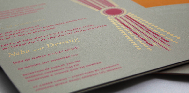 Wedding Card - Neha and Devang